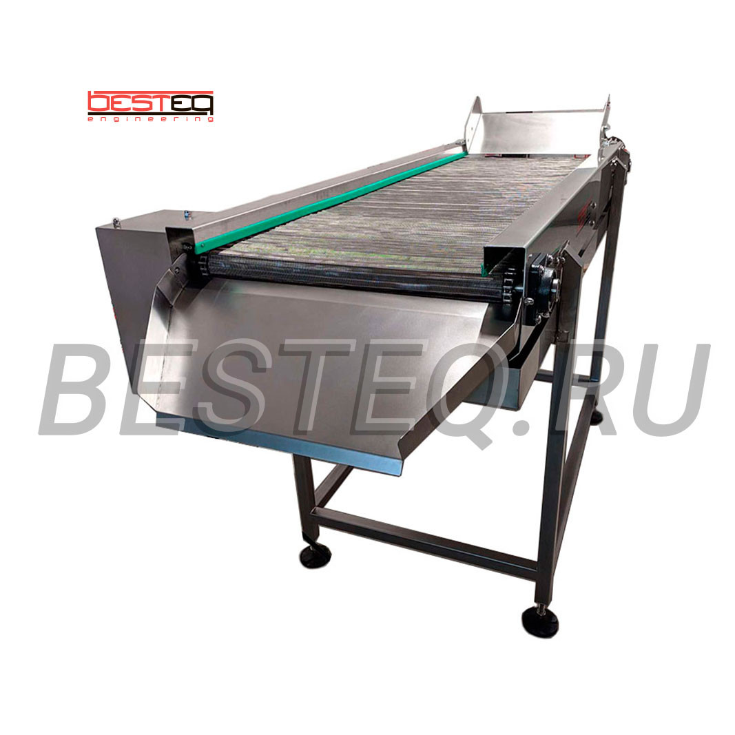 Breaded food transport belt BESTEQ-TG-6000