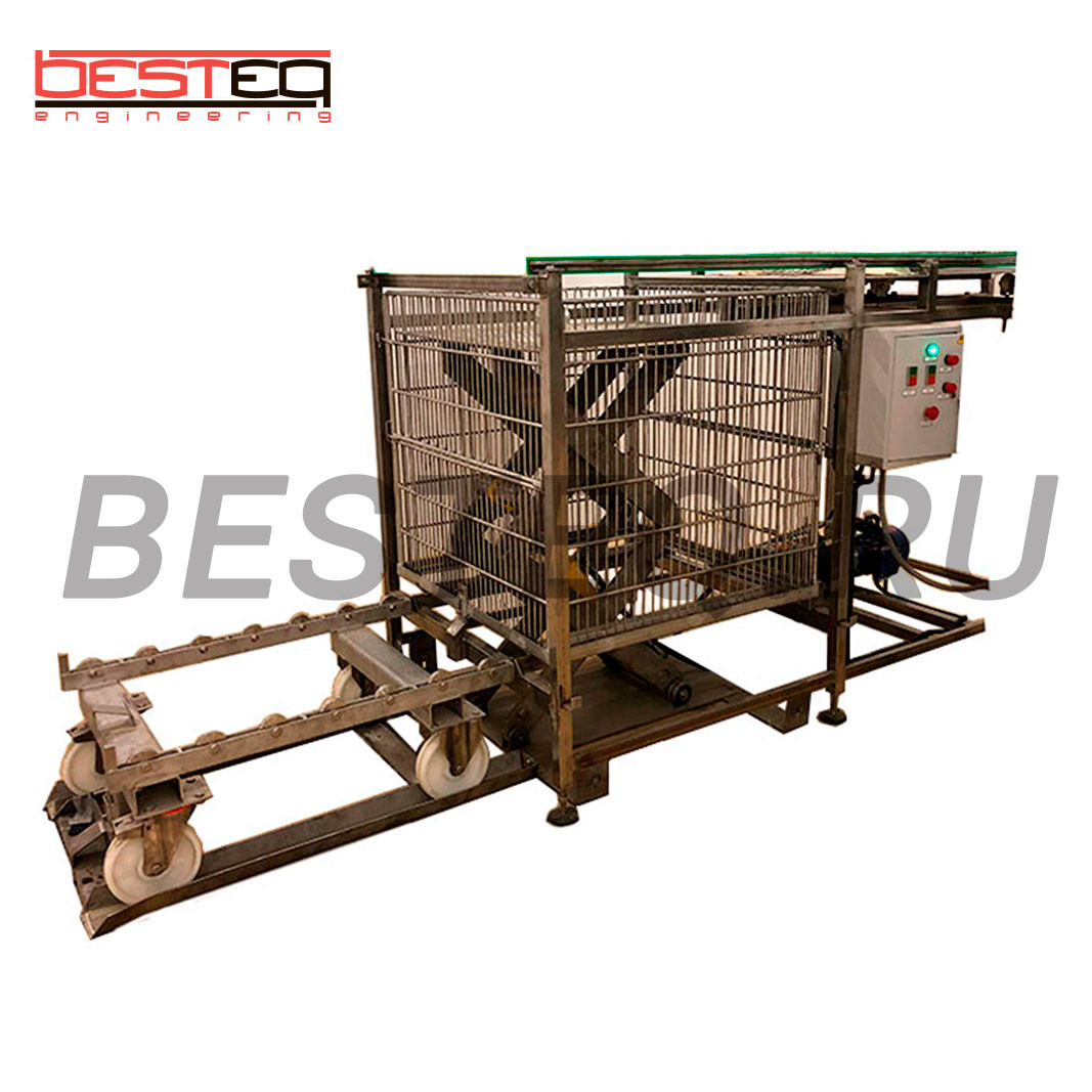 Semi Automatic autoclave basket loader BESTEQ-LLAB-1200